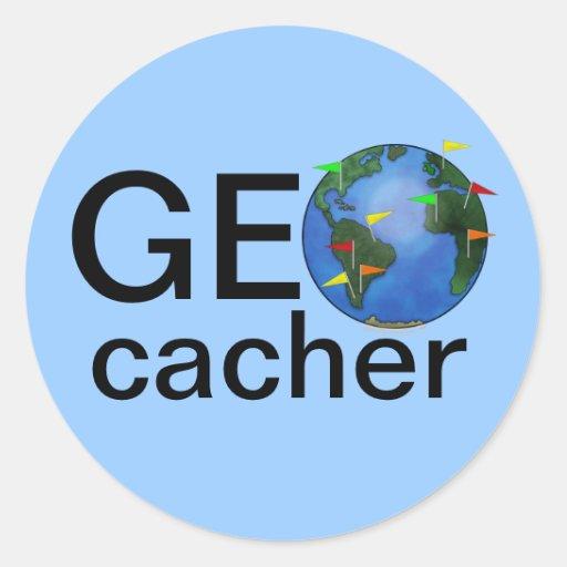 Geocacher Earth Geocaching Swag Custom Sticker