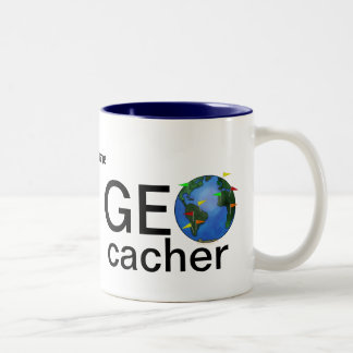 Geocacher Earth Personalized Geocaching Coffee Mug