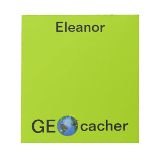 Geocacher Earth Personalized Geocaching Custom Notepad