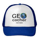 Geocacher Earth with Flags Geocaching Custom Trucker Hat