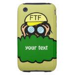 Geocacher en caso de encargo del iphone de Geocach Tough iPhone 3 Protectores