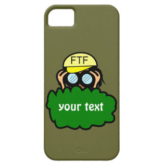 Geocacher in Bushes Geocaching iphone 5 Name Case iPhone 5 Covers
