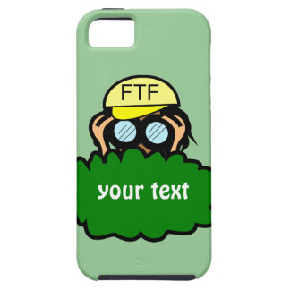 Geocacher in Bushes Geocaching iphone 5 Name Case iPhone 5 Cases