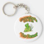Geocacher lo hace en el desierto llavero personalizado