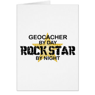 Geocacher Rock Star by Night Card