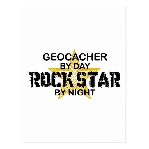 Geocacher Rock Star by Night Postcard