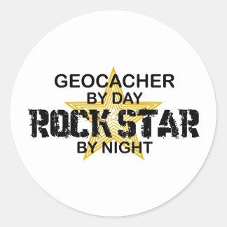 Geocacher Rock Star by Night Sticker