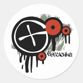 Geocacher Vector Classic Round Sticker