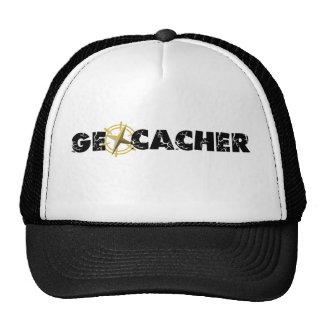 Geocacher with Compass Mesh Hat