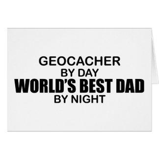 Geocacher World's Best Dad by Night Card