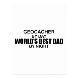 Geocacher World's Best Dad by Night Postcard