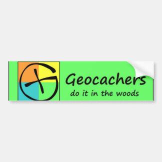Geocachers Do it in the Woods Bumper Sticker