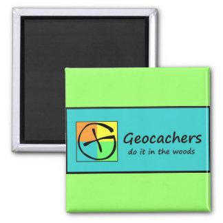 Geocachers Imán Cuadrado
