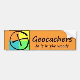 Geocachers lo hace en las maderas pegatina para auto
