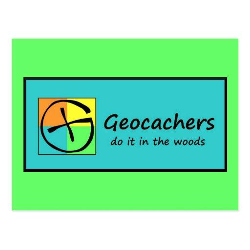 Geocachers Postcard
