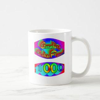 Geocaching 1000 Finds Coffee Mug