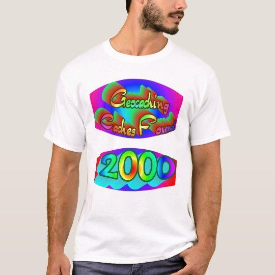 Geocaching 2000 Finds T-Shirt
