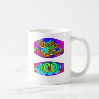 Geocaching 4000 Finds Coffee Mug
