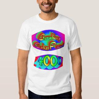 Geocaching 4000 hallazgos remeras