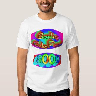 Geocaching 5000 Finds T-shirt