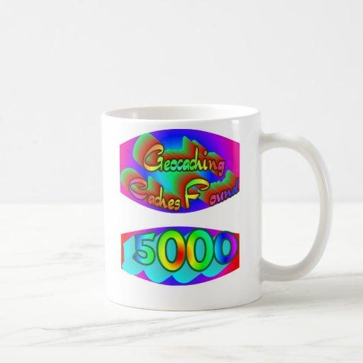 Geocaching 5000 hallazgos taza básica blanca