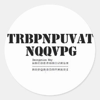Geocaching Addict Classic Round Sticker