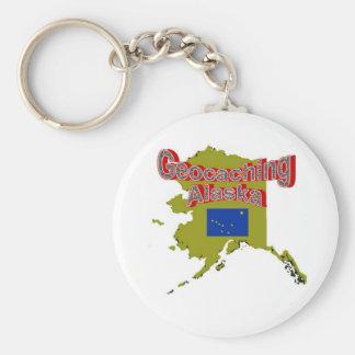 Geocaching Alaska Keychain