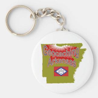 Geocaching Arkansas Keychain