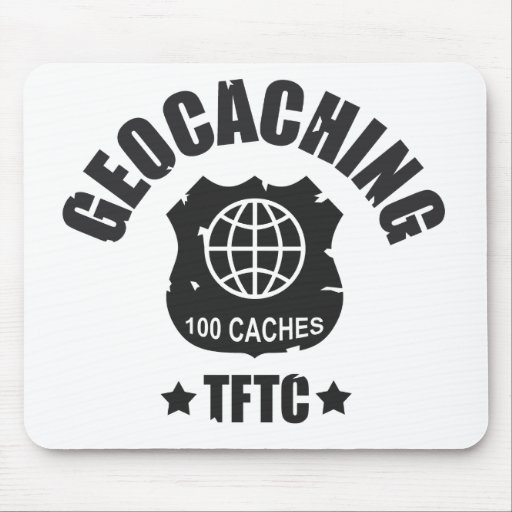 Geocaching Award  100 Caches Mousepads