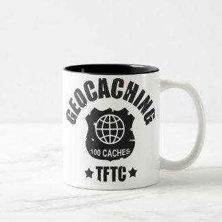 Geocaching Award 100 Caches Two-Tone Coffee Mug