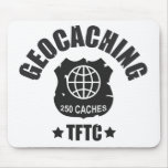 Geocaching Award 250 Caches Mousepad