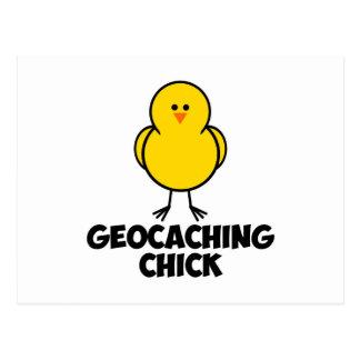Geocaching Chick Postcard