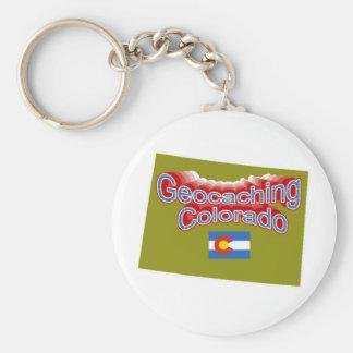 Geocaching Colorado Keychain