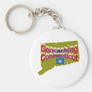 Geocaching Connecticut Keychain