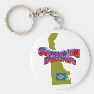 Geocaching Delaware Keychain