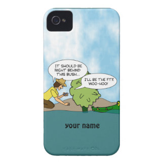 Geocaching divertido personalizó la caja de Blackb Case-Mate iPhone 4 Carcasas