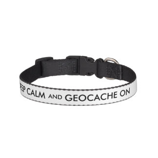 Geocaching Dog Collar Keep Calm and Geocache On