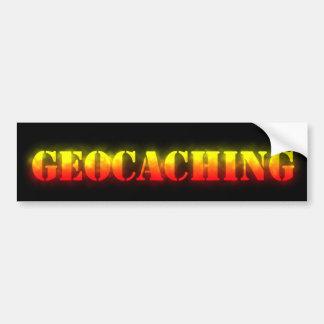Geocaching en el fuego pegatina para auto