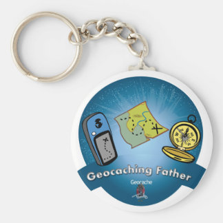 Geocaching Father Key Chain
