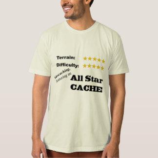 """Geocaching   Featuring an all star cache"" T-Shirt"
