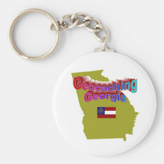 Geocaching Georgia Keychain