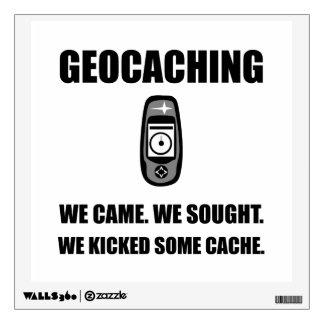 Geocaching golpeó el escondrijo con el pie vinilo decorativo