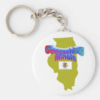 Geocaching Illinois Keychain