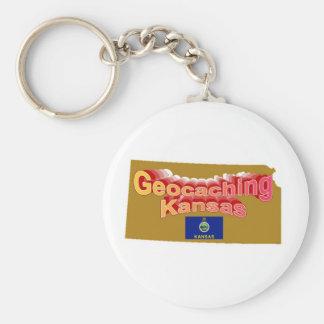 Geocaching Kansas Keychain