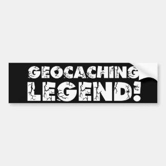Geocaching Legend! Car Bumper Sticker