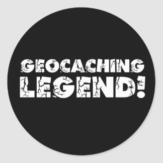 Geocaching Legend! Classic Round Sticker