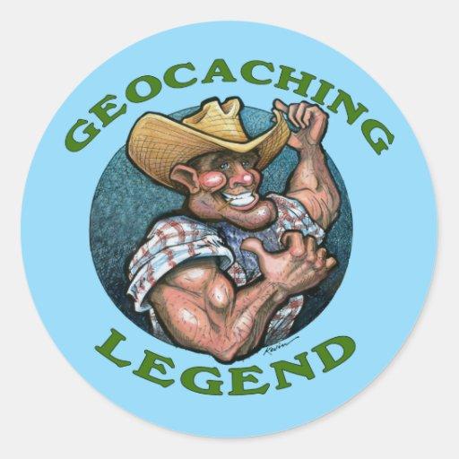 Geocaching Legend Classic Round Sticker