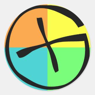 Geocaching Logo Classic Round Sticker
