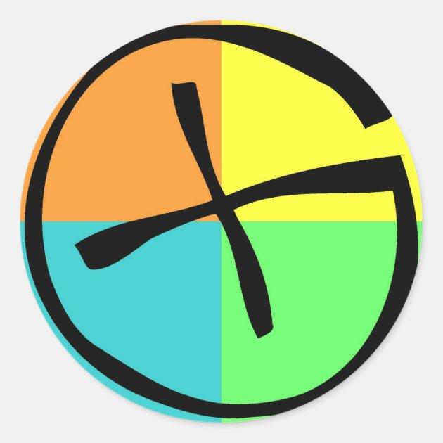 geocaching logo classic round sticker zazzle com rh zazzle com Geocaching Logo Print Out Geocaching Logo Green