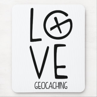 Geocaching Love Mouse Pad